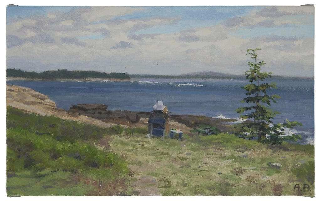 Posy Painting, Blueberry Hill, Schoodic